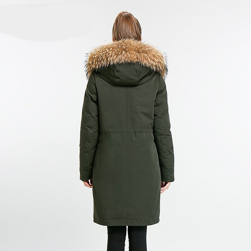 Charlotte Mid Long Stand Collar Winter Jacket - woven-trends