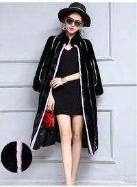 Andrea Long Faux Fur Coat Woven Trends