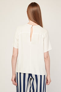 Miranda Plain Single Front Pocket Blouse Top-Woven Trends