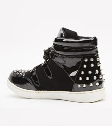 Elyse Spike Studded Bohemian Girl Trainers-Woven Trends
