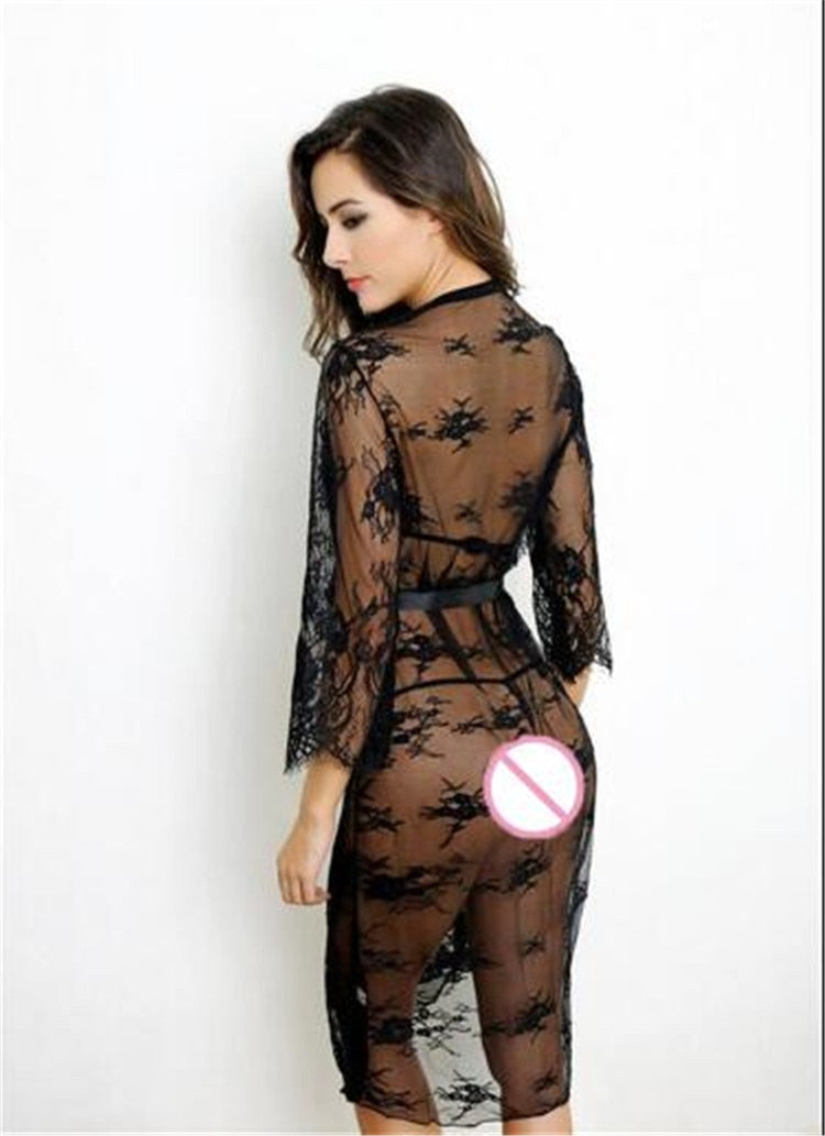 Suzanne Knee Length Luxurious Night Robe