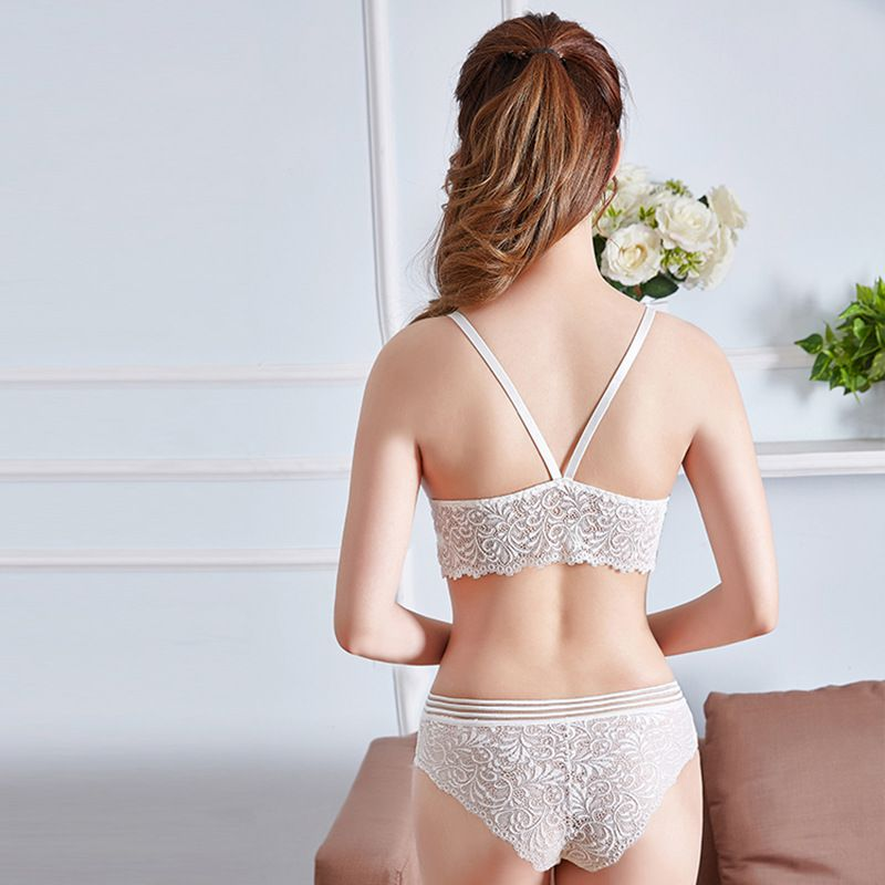 Darlene Lace Briefs and Padded Push Up Bra Set Woven Trends