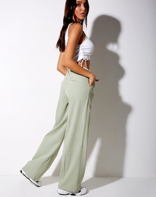 Ava Tailored Trousers in Sage