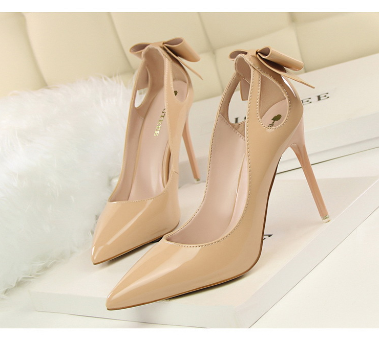 Platform Pump Pencil Heel Slip On Shoes
