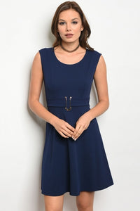 Sleeveless Navy Night Dress Dresses - Woven Trends Fashion Collection