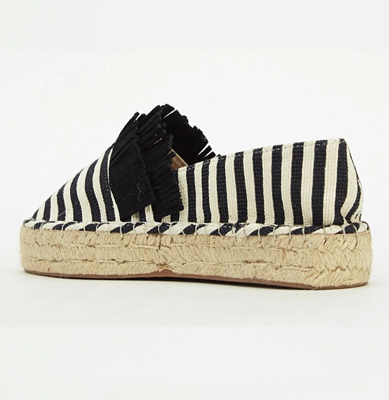 Natalee Striped Tassel Design Slip On Espadrilles-Woven Trends