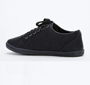 Gianna One Side Studded Black Trainers-Woven Trends