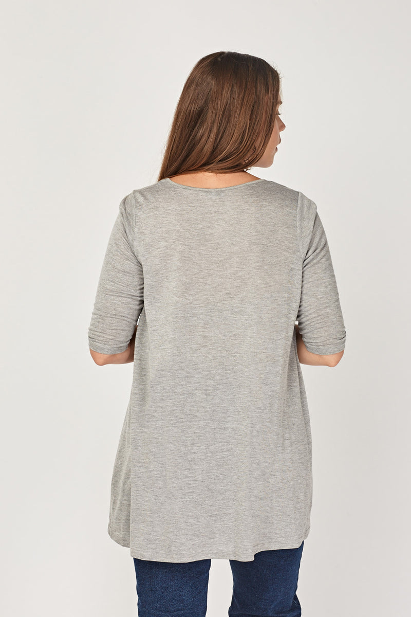 Kezia Speckled Casual Plus Top - Woven Trends