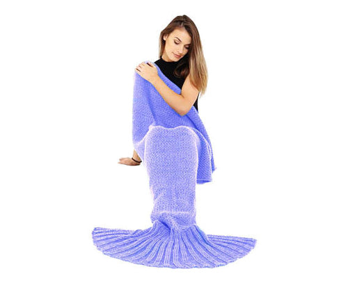 Cosy Knitted Lounge Wear - Fish Tail Lounge Blanket Woven Trends