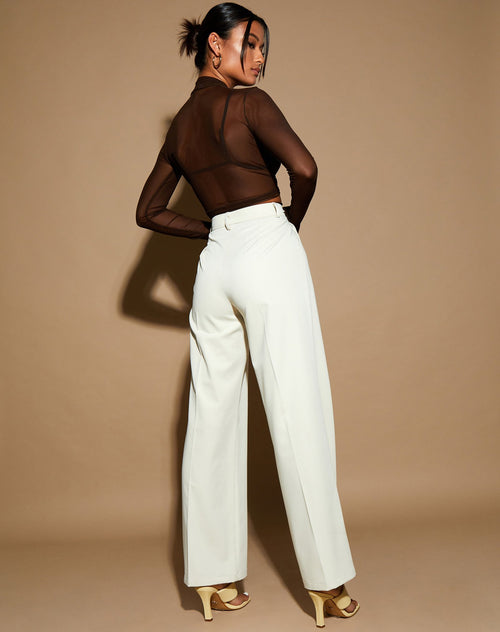 Ava Tailored Trousers in Cream