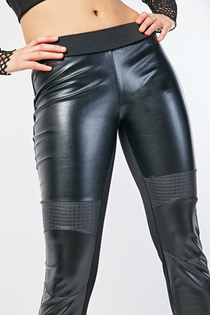 Kaitlynn Contrast Datex Spanx Faux Leather Leggings
