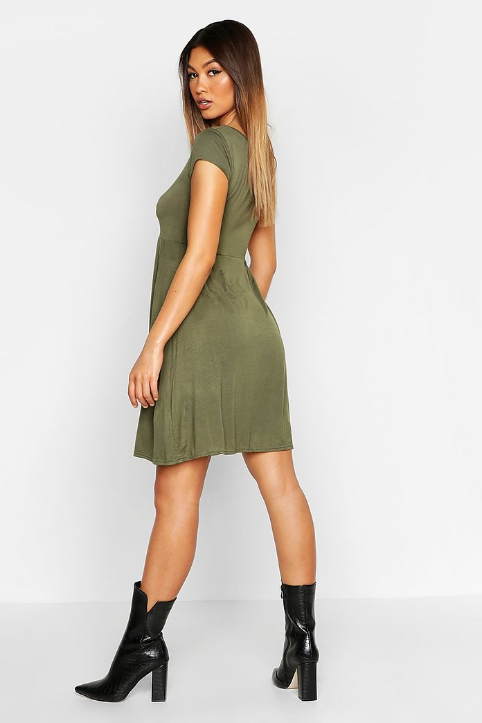Caroline Sweet Neck Midi Skater Dress
