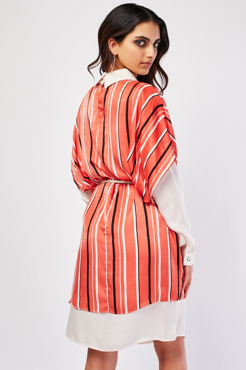 Imogen Shirt Insert Smock Sateen Dress-Woven Trends