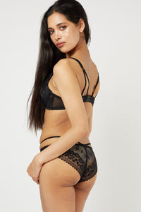 Elise Sexy Cut Out Lace Bra And Brief Lingerie Set - Woven Trends