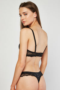 Elise Sexy Balconette Bra And Thong Set - Woven Trends