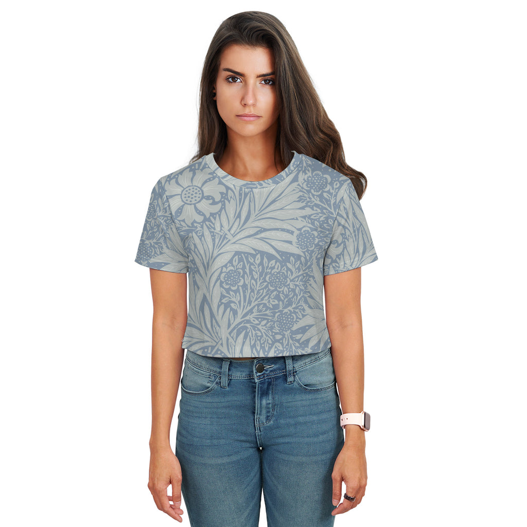 Roberta Floral Pattern Print Crop Top - Woven Trends