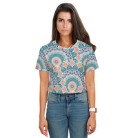 Gabby Abstract All Over Print Crop Top - Woven Trends