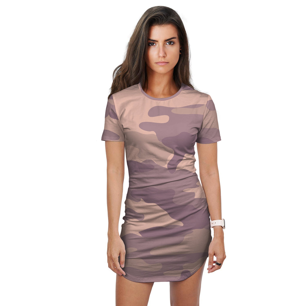 Estelle Blend Mix Camo Print T-Shirt Dress