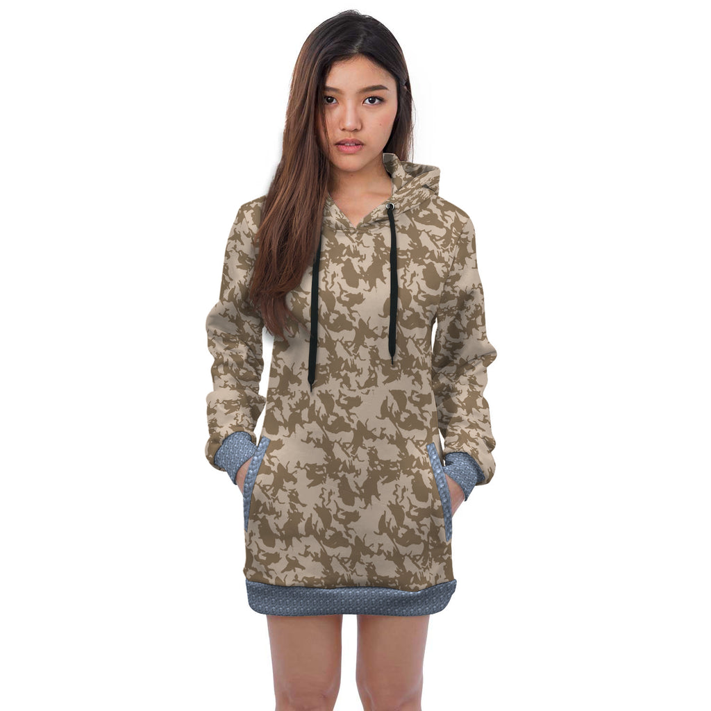 Nala Camouflage Mix Print Hoodie Dress