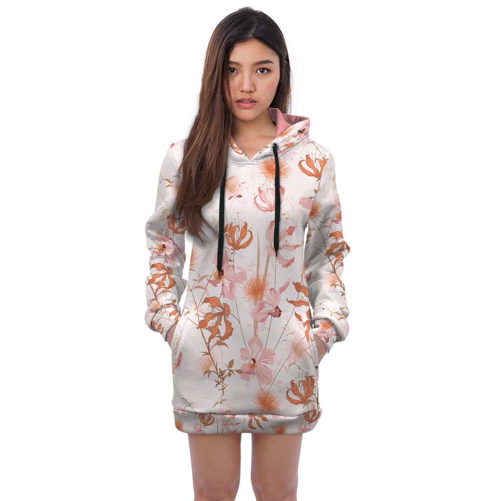 Breanna Floral All Over Print Hoodie Dress