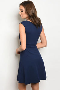 Sleeveless Navy Night Dress - woven-trends