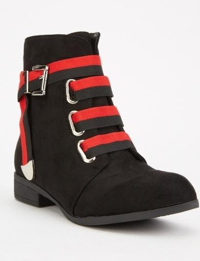 Isabelle Zip Side Ankle Boots-Woven Trends