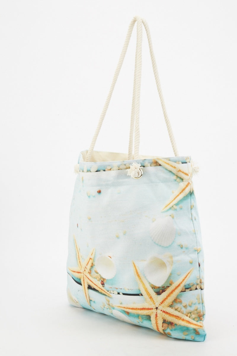 Madelyn Girl of The Ocean Mix Print Effect Tote Shopper Bag