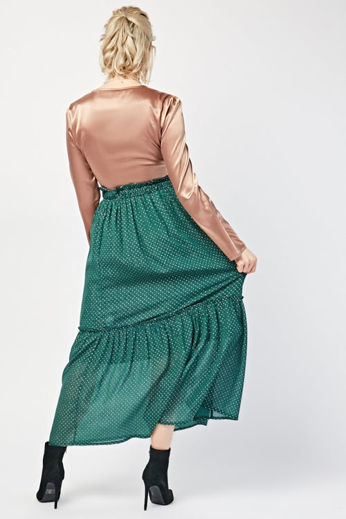 Selena Riff Elasticated Gathered Maxi Skirt-Woven Trends