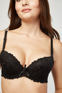 Elise Sexy Push Up Lace Bra And Brief Set - Woven Trends