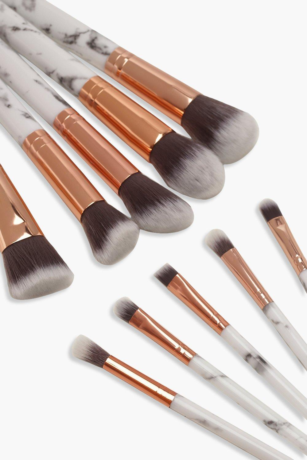Jaslyn Luxurious High Quality Marble Finish Makeup Brush Set-Woven Trends