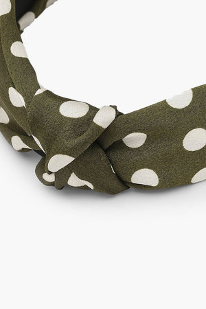Kiara Polka Dot Twist Knot Headband-Woven Trends