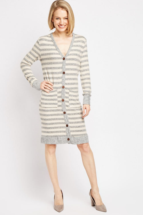 Aleena Button Down Front Jersey Knit Dress-Woven Trends
