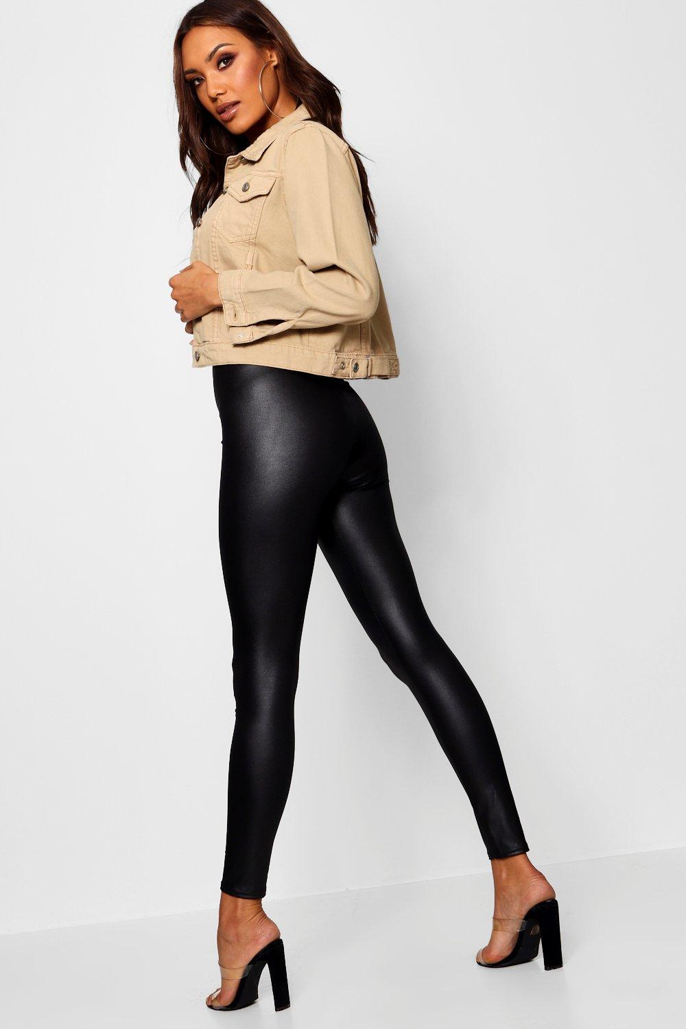 Cathy Wet Look Stretch Datex Leggings - Woven Trends