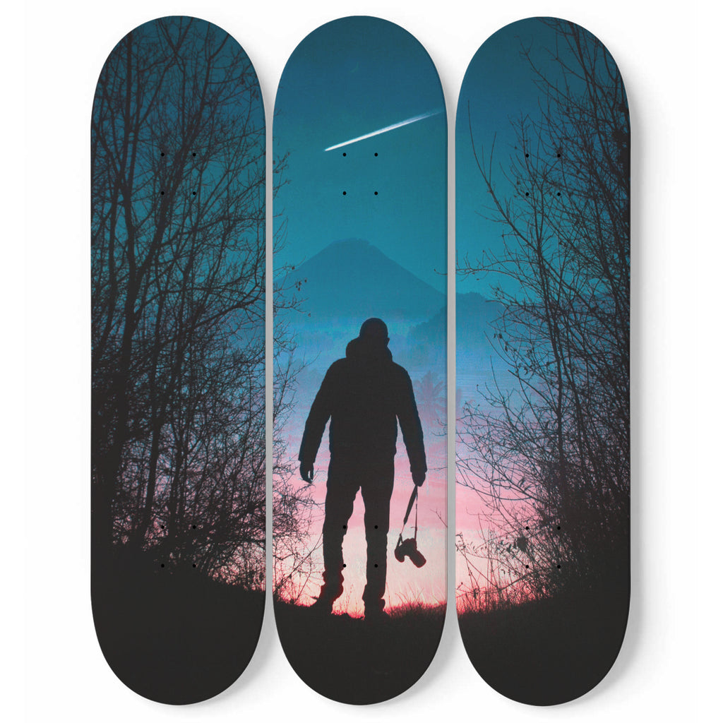 Lone Walker Sunset Wall Decoration Skateboard Art