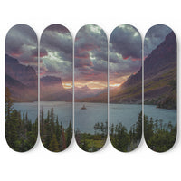 Mountain Sky And Trees 5 Piece Skateboard Deck Art DecorMountain Sky And Trees 5 Piece Skateboard Deck Art Decor