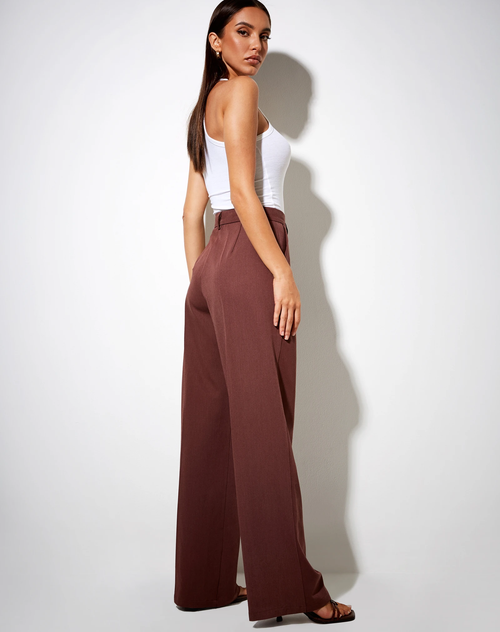 Ava Tailored Trousers in Cocoa