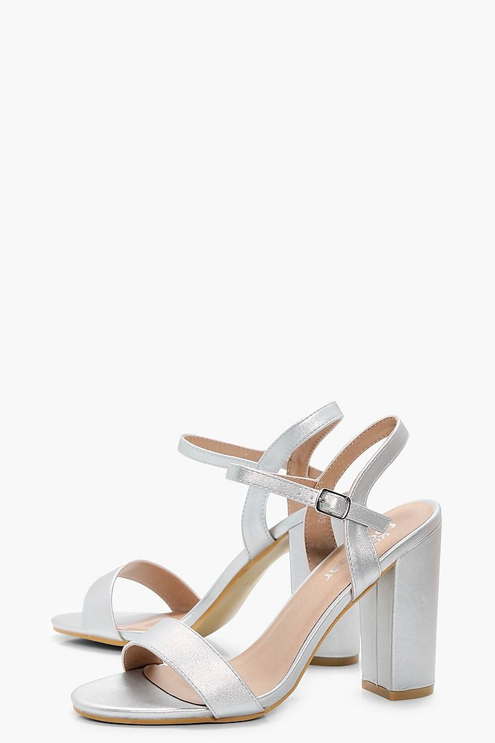 Meg Thin Straps Block Heel Sandals-Woven Trends