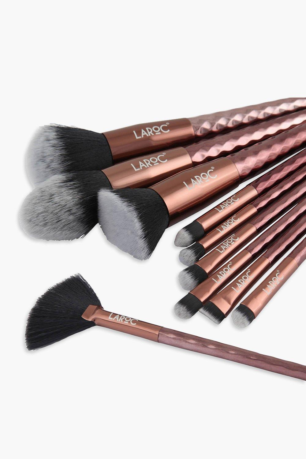 Queen Royalty Ten Piece Rose Gold Diamond Makeup Brush Set-Woven Trends