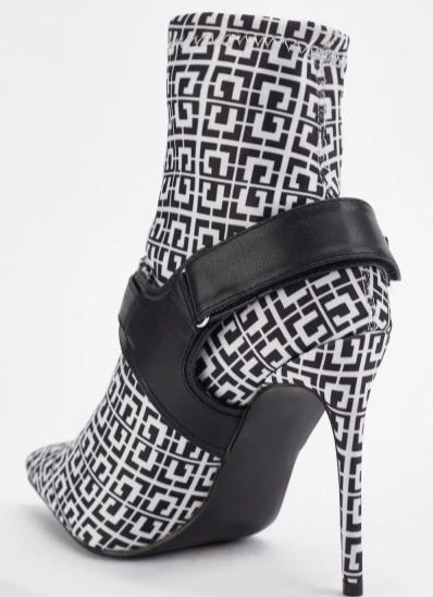 Joselyn All Over Print Textile Ankle Boots