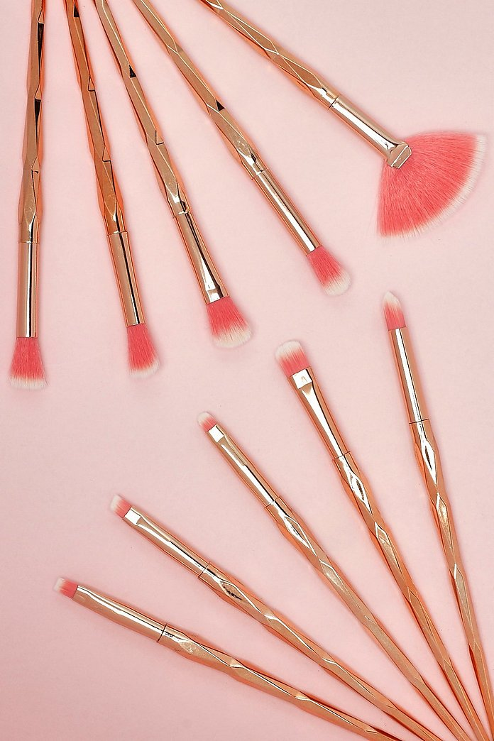 Marie 10 Piece Makeup Brush Set-Woven Trends