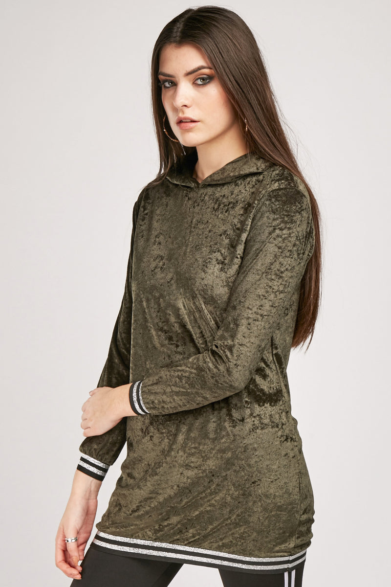 Marilyn Velvet Hoodie Top-Woven Trends