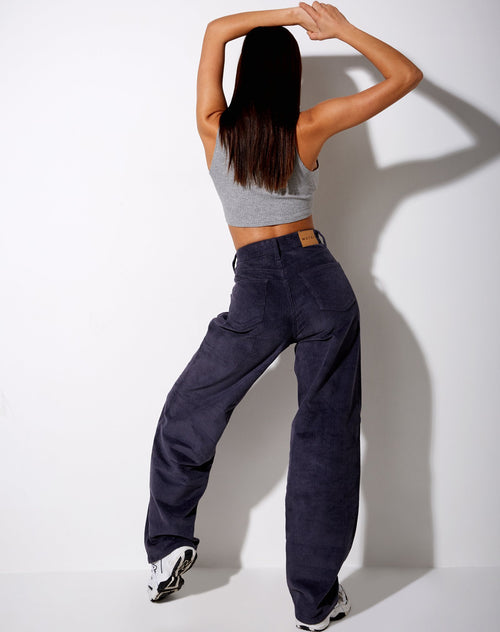 Akosua Jeans in Corduroy Ink Blue