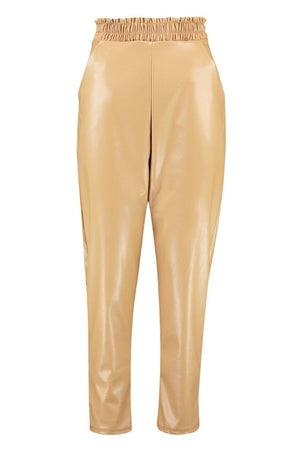 Jaylyn Vinyl Leather Look Slim Fit Girls Jogger - Woven Trends