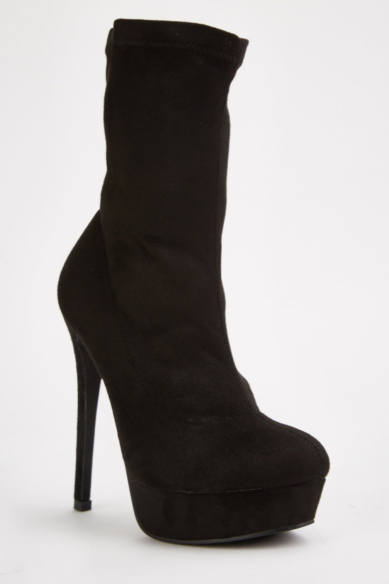Rayna High Heeled Suede Ankle Boots