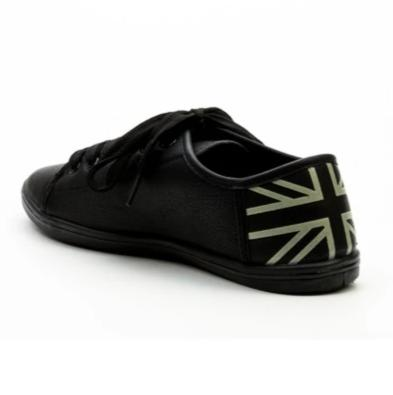 Aliyah Union Jack Print Heel Trainers-Woven Trends