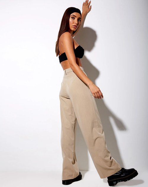 Ava Tailored Trousers in Tan