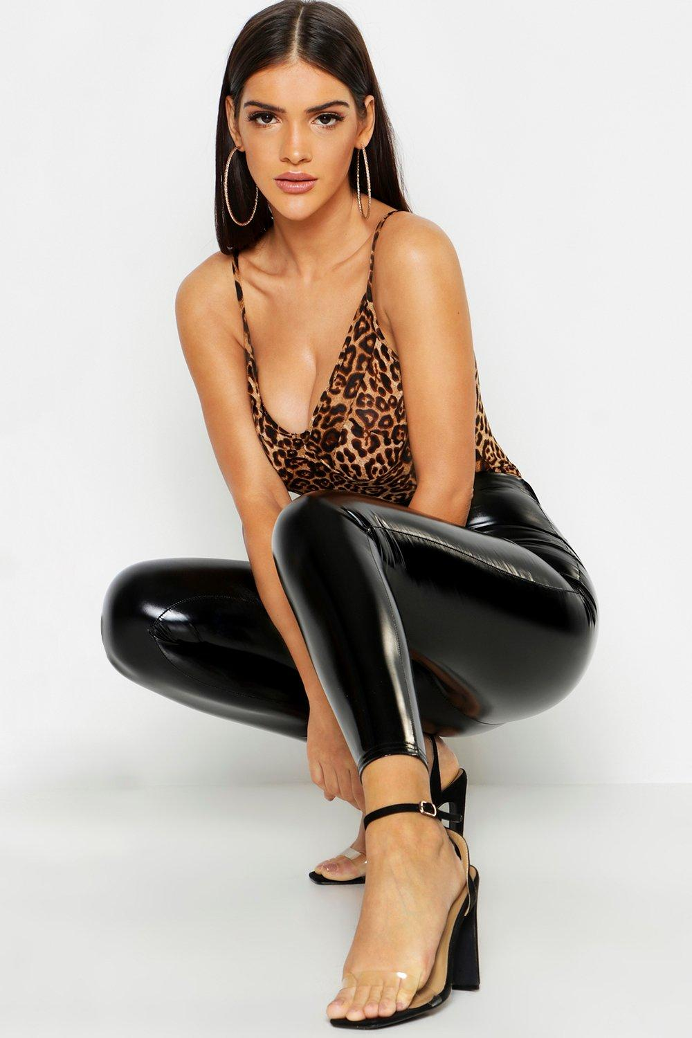 Kirsten High Waisted Stretch Datex Leggings - Woven Trends