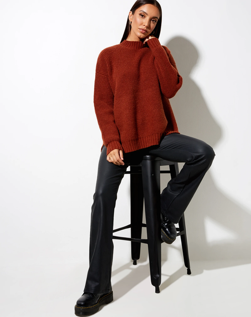 Natalie Knit Red Brick Jumper Top