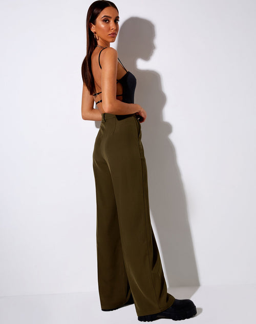 Ava Tailored Trousers in Khaki