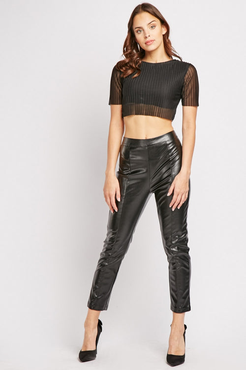 Daphne Datex Spanx Faux Leather Women's Trousers-Woven Trends